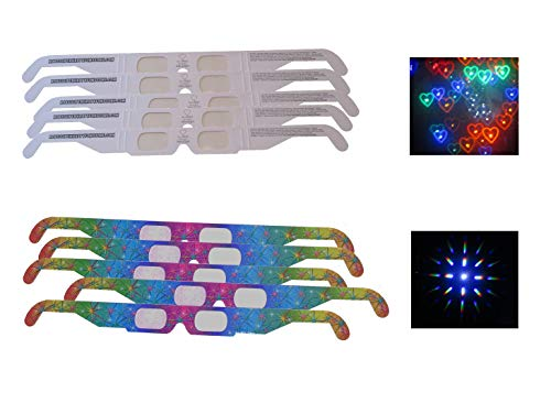- Rob's Super Happy Fun Store Fireworks Diffraction Glasses - Rainbow Hearts / Rainbow Spectrum Mix - 10 Glasses