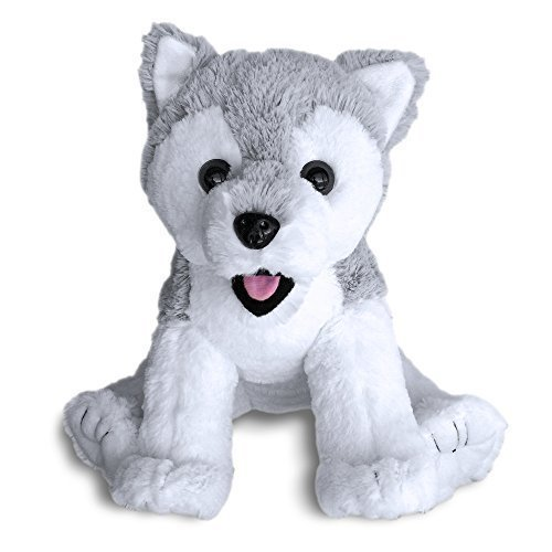 Siberian Husky Dog Puppy by Build A Furry Friend. Cuddly Soft Plush 16 Inch Stuffed Animal. Child-friendly, handmade quality. Includes stuffing, star-…
