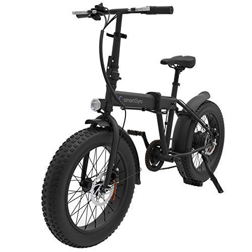 SmartGyro Ebike Monster - Bicicleta eléctrica Urbana (Fat-Bike) Plegable y con Asistente al pedaleo, (Ruedas neumáticas 20