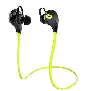 AUKEY Auriculares Bluetooth 4.1 Sport Inalámbrico headphone In Ear Stereo Cuello con Micrófono Resistente al Sudor para iOS, Android, iPad, etc. Smartphones ( Verde, EP-B4 )