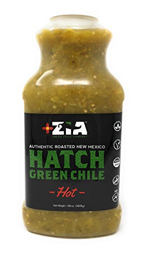 Salsa Roasted Pepper Desert (Original New Mexico Hatch Green Chile By Zia Green Chile Company - Delicious Flame-Roasted, Peeled & Diced Southwestern Certified Green Peppers For Salsas, Stews & More, Vegan & Gluten-Free - 128oz)