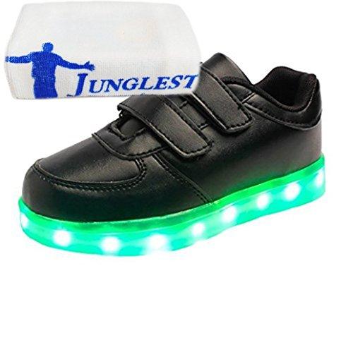 (Present:kleines Handtuch)JUNGLEST® 7 Farbe USB Aufladen LED Leuchtend Sport Schuhe Sportschuhe High Top Sneaker Turnschuhe für Unisex-Erwa c25