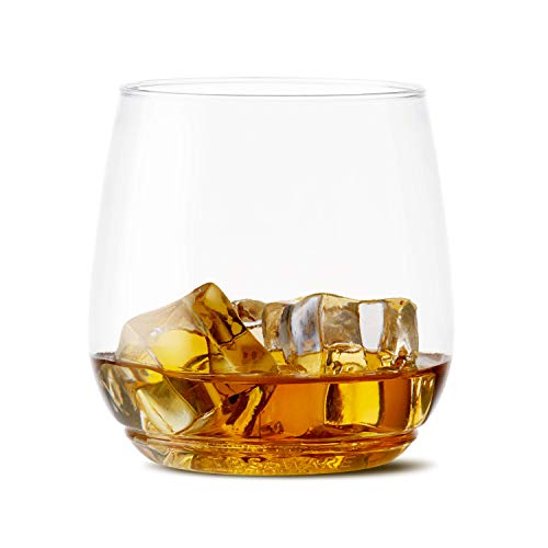 TOSSWARE 12oz Tumbler Jr - Set of 252 recyclable cocktail and whiskey plastic cup - stemless, shatterproof and BPA-free, Clear Glass by TOSSWARE (Image #1)