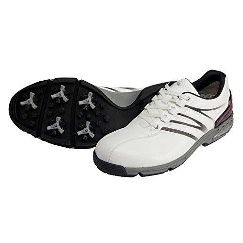 本間ゴルフ TOUR WORLD メンズ ゴルフシューズ アスリートモデル ホワイト/ブラック 26.5cm 2E SS-1601 原産国:中国 素材:甲(人工皮革)、 底(合成ゴム/EVAスポンジ)、 鋲(スティンガーIII 、 取付方式:トライロック/鋲数:片足7個)   B077HM2KYX