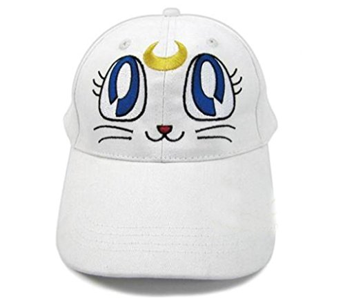 Luna Cat Sailor Moon Costume (Animeanime Sailor Moon Hat Luna Purple White Artemis Cat Cosplay Cap Baseball Cap (White Artemis Cat))