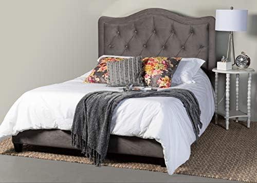 Leffler Home Adele Crystal Diamond Tufted Gray King Bed