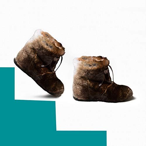 Brown Rabbit Boots for Women, Mukluk Boots, Yeti Boots, Rex Rabbit Fur Boots, Long Boots, Winter Boots, Girlfriend Gift, LITVIN (Rabbit Fur Mukluk)
