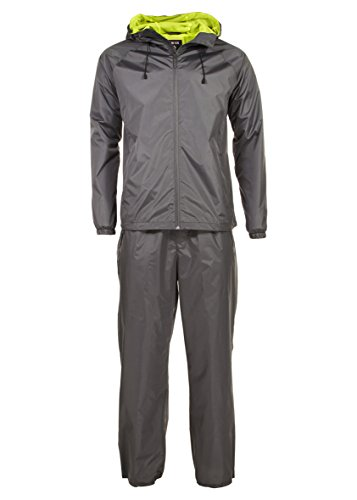 Swiss Alps Mens Ripstop Water-Resistant 2 Piece Rain Suit Charcoal XL by Swiss Alps