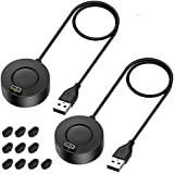 EZCO 2-Pack Charger Compatible with Garmin Fenix 5 5S 5X 6 6S 6X, Vivoactive 3 4 4S Music, Replacement USB Charging…
