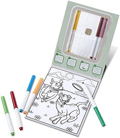 Melissa & Doug Patrón Mágico de Mascotas Bloc para Colorear con marcadores, para Actividades de Viaje de niños Activity Book 3