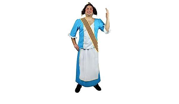 Disfraz de Fallera Azul para Hombre: Amazon.es: Juguetes y juegos