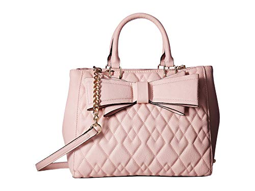 Betsey Johnson Women's Quilted Satchel Pink One Size