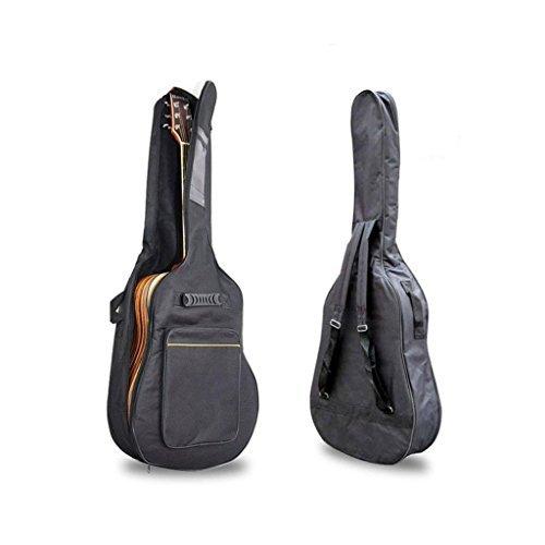 Black 41'' Acoustic Guitar Double Straps Padded Guitar Soft Case Cover Bag Backpack