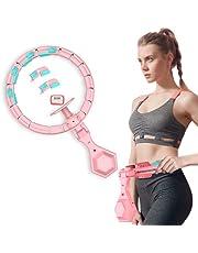 Queta Fitnessbanden, verstelbare smart hoelaband met massagebet + smart counter+kleurrijke verlichting voor beginners, kinderen volwassenen - fitness, afvallen, trainingsbanden hoepel