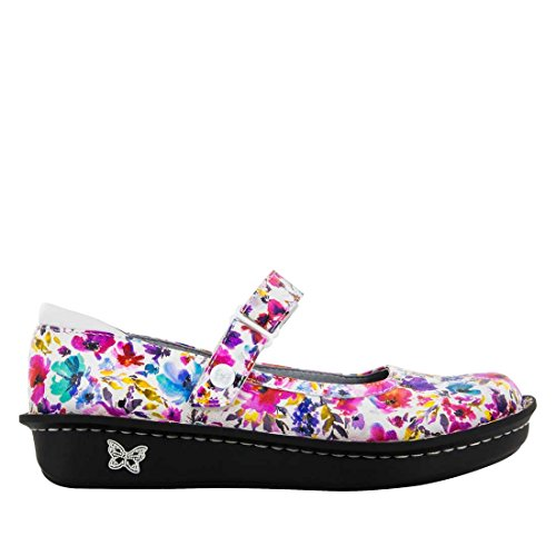 Alegria Womens Belle Mary Jane Flat Perennial