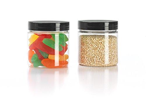 4 oz wide mouth plastic jars - 5