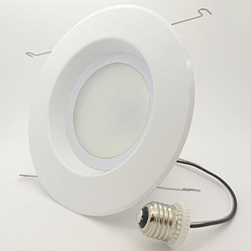"4 Pack Bioluz LED 5""/6-inch 75 Watt (Uses 12W) 90 CRI Dimmable LED Retrofit Recessed Lighting Fixture - 3000K LED Ceiling Light 840 Lumen Soft White UL Listed JA8 CEC 2016 Title 20 (Pack of 4)"