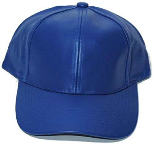 [Blue -Baseball,Golf,Sport Cap Genuine Leather Adjustable Solid Deluxe Cap/Hat - One Size Fits All (US] (Daniel Tiger Deluxe Costumes For Toddlers)