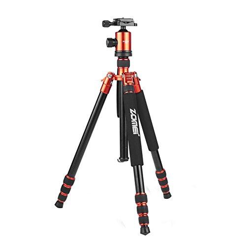 Zomei Q666 152cm hat eine leichte Magnesium-Aluminium-Legierung, und ist ein tragbares-Stativ mit Kugelkopf und einer Tragetasche f¨¹r Kameras
