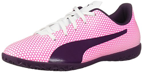 PUMA Unisex Spirit IT Jr Soccer Shoe, White Shadow...