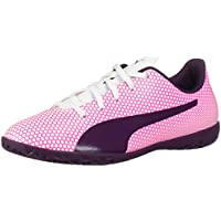 PUMA Kids Spirit It Jr Soccer Shoes (White Shadow Purple-knockout Pink,2018)
