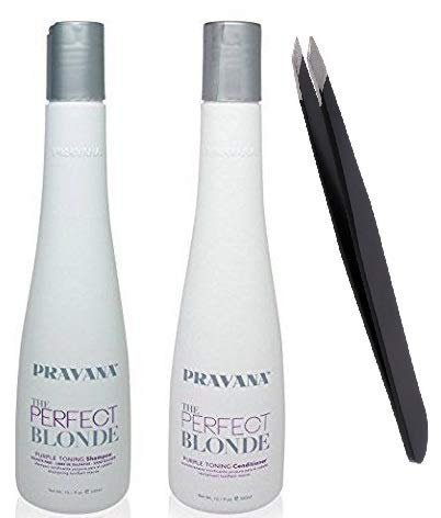 Blonde Purple Toning Shampoo and Conditioner DUO 10.1 Oz +PROFESSIONAL TWEEZER*