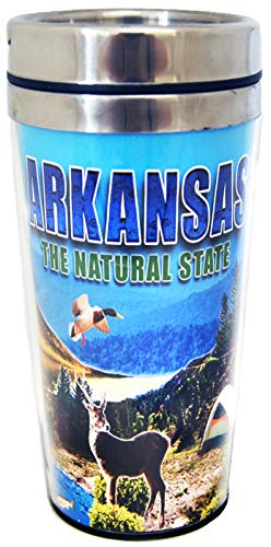 State of Arkansas Beautiful Scenic Designed Travel Mug- Perfect for drinks on the go