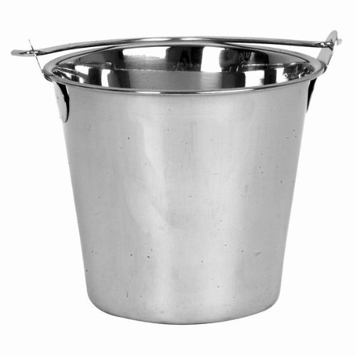 16 Qt. Stainless Steel Pail Balti, Heavy-Duty Ice Bucket with Handle by Thunder Group