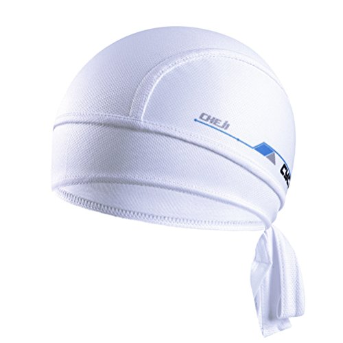 Mesh Headwrap - Uriah Cycling Cap Breathable Head Wrap Pure White