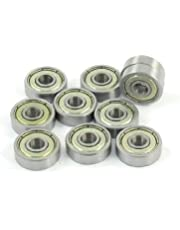uxcell 10-Piece 625ZZ 5mm x 16mm x 5mm Shielded Deep Groove Radial Ball Bearing