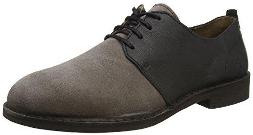 FLY London P210930002, Zapatos de Cordones Hombre Negro (Ash/Black 000)