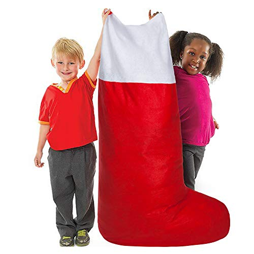 CYKJ Jumbo Oversized Felt Christmas Stocking Red and White-60