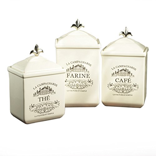 White Kitchen Canisters: Amazon.com