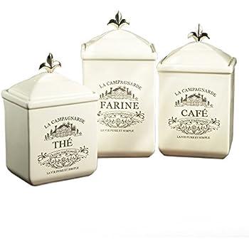 Amazon Com Mud Pie Ceramic Coffee Canister Door Knob