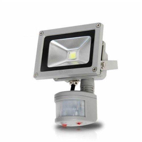 Proyector de led con sensor de movimiento 10W 700lm IP65: Amazon ...