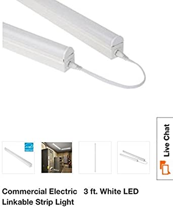 Commercial electric 3ft led strip light amazon aloadofball Image collections