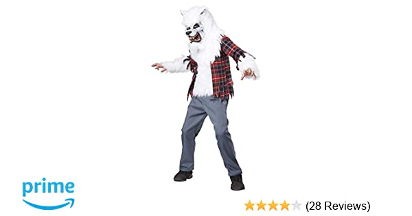 Amazon.com: California Costumes White Werewolf Costume, One Color, 12-14: Toys & Games