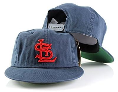 MLB American Needle Basic Retro Baseball Cotton Twill Adjustable Snapback Hat (St. Louis Cardinals)