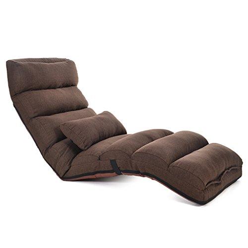 Amazon.com: Lazy Sofá portátil respaldo silla rosa adulto ...