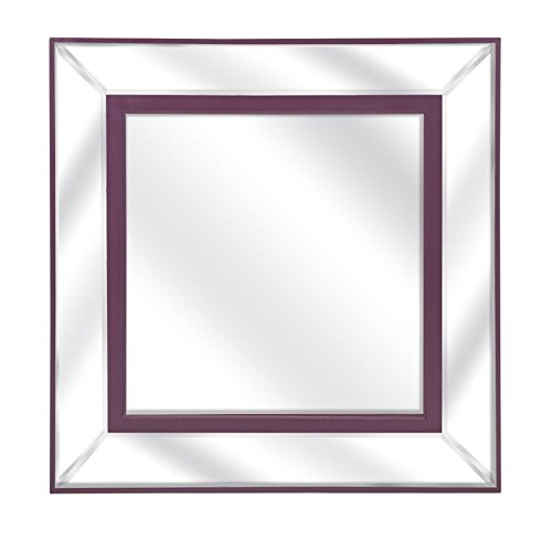 IMAX  Essentials Irresistible Mirror, Purple Mirror wall decor
