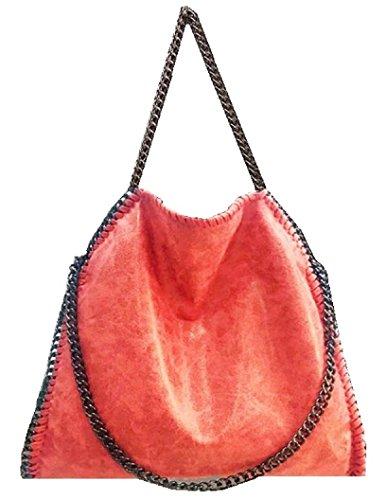 getthatbag-womens-vienna-tote-bag-silver-chain-hardware-bag-l-red