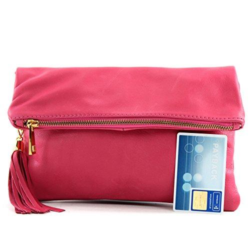 Sac bandoulière cuir en croco pochette Pink modamoda daim T54KR sac ital à de en E8C8xqgFw