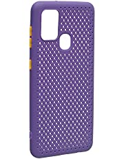 Perforated Silicone Back Cover For Samsung Galaxy A21S - Purple