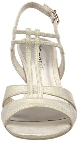 Tamaris 28304, Sandales Bride Arrière Femme, Weiß, 36 EU Or (Light Gold)