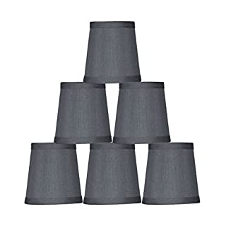 Urbanest Gray Mini Chandelier Lamp Shade, 3x4x4
