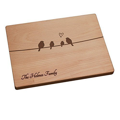 Personalized Cutting Board - Birds On A Wire