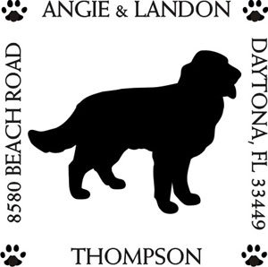 are Return Address Stamp (Retriever Dog Stamp)