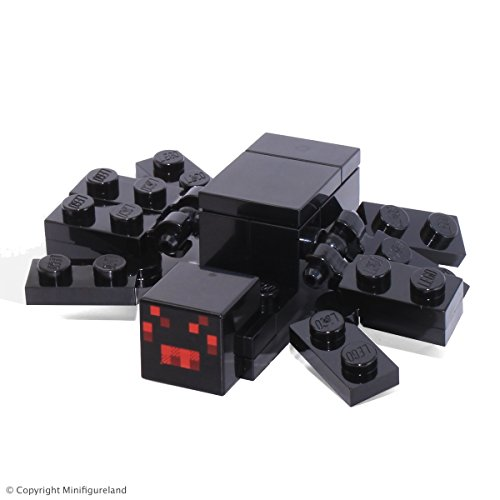 LEGO Minecraft MiniFigure - Black Spider Animal (From Set 21118)