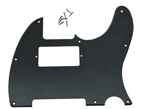 KAISH 8 Hole Tele Guitar Humbucker Pick Guard for USA/Mexican Fender Telecaster Matte Black 1 Ply