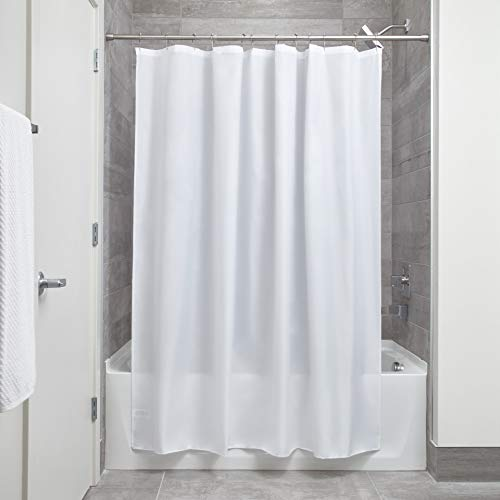 InterDesign Waterproof Mold and Mildew-Resistant Fabric Shower Curtain, 72-Inch by 72-Inch, ()
